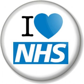 I Love / Heart The NHS Pinback Button Badge National Health Service Nye Bevan